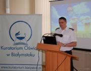 Wystąpienie przedstawiciela Komendy Wojewódzkiej Państwowej Straży Pożarnej