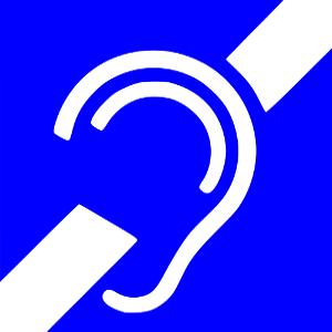 Ikona niesłyszący, głuchoniemy