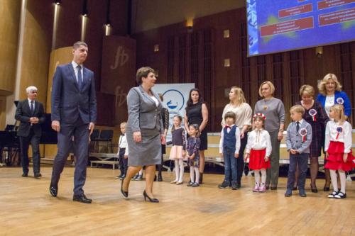 Minister Edukacji Narodowej Pan Dariusz Piontkowski i Pani Beata Pietruszka Podlaski Kurator Oświaty.
