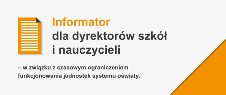 Informator dla dyrektorów szkół i nauczycieli – działania MEN na rzecz cyfryzacji edukacji